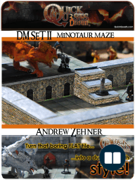 Printable 3D dungeon Tiles Minotaur Maze set for Dungeons and Dragons, D&D, Gurps, Warhammer or other RPG