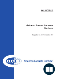 ACI 347.3R-13 Guide to Formed Concrete Surfaces
