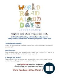LitWorld World Read Aloud Day 2014 Classroom Activity Kit