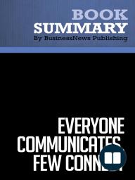 Everyone Communicates, Few Connect  John C. Maxwell (BusinessNews Publishing Book Summary)