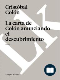 carta de Colón anunciando el descubrimiento