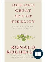 Our One Great Act of Fidelity by Ronald Rolheiser(Chapter 1)