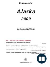 Frommer's Alaska 2009