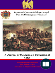 A Journal of the Russian Campaign of 1812.
