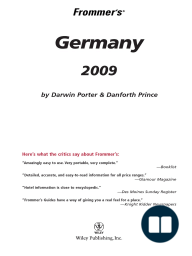 Frommer's Germany 2009