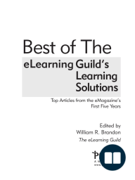 Best of The eLearning Guild's Learning Solutions