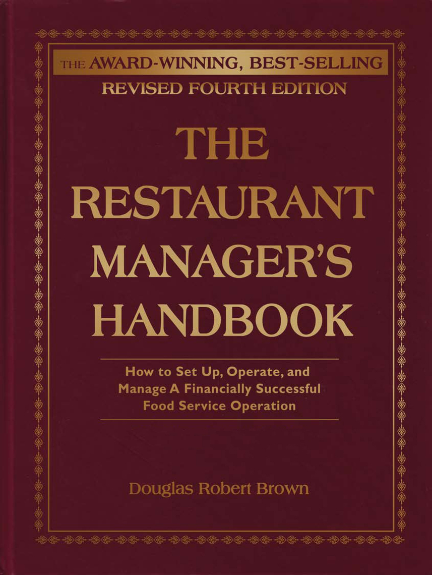 The restaurant managers handbook by douglas brown read online fandeluxe Choice Image