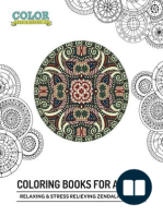Relaxing & Stress Relieving Zendala Designs (Coloring Books for Adults)
