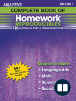 Milliken's Complete Book of Homework Reproducibles - Grade 1