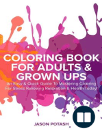 Coloring Book for Adults & Grown Ups