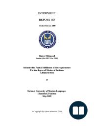 Global Telecom 2009 Internship Report on Global Telecom 2009