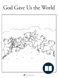 God Gave us the World - Coloring Page