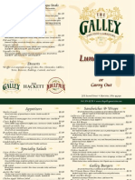 The Galley - Lunch Menu - Marietta, Ohio