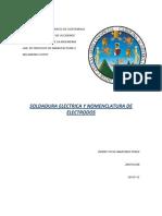 Soldadura Electrica y Seleccion de Electrodos