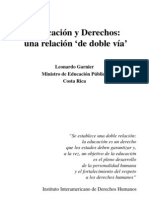 Educacion, Derecho y Finacimiento