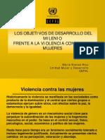 Objetivos de Desarrollo Del Milenio Frente a La Violencia Contra Las Mujeres
