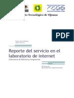 Reporte Del Servicio en El Lab Oratorio de Internet[1]