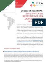 SPOTLIGHT ON PUBLICATIONS