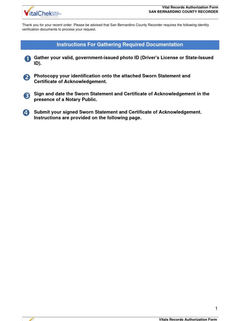 Authorization Form Identity Document Document