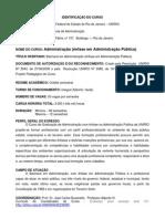 IDENTIFICAÇÃO DO CURSO DE ADMINISTRAÇÃO PÚBLICA DA UNIRIO