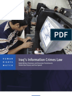 Iraq's Information Crimes Law