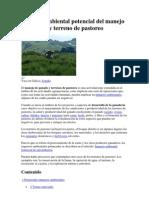 Impacto Ambiental Potencial Del Manejo de Ganado y Terreno de Pastoreo