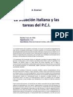 A. Gramsci - La situación italiana y las tareas del P.C.I.(1925)