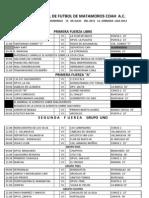 Rol Jornada 1 Liga 2012