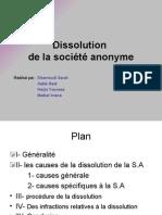Dissolution.de La S.A