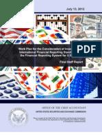 Ifrs Work Plan Final Report