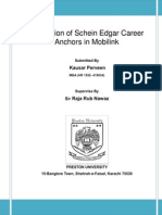 Evaluation of Scien Edgar Career Anchors in Mobilink