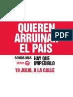#19J TODOS A LA CALLE #quierenarruinarelpais