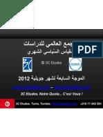 3C Etudes - Résultats baromètre politique Tunisie, 7è vague - juillet 2012