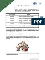 TAMAÑO, LOCALIZACION Y PROCESO PRODUCTIVO DEL PROYECTO
