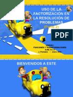 RESOLVER PROBLEMAS CON FACTORIZACIÓN PARTE 2
