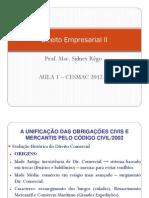 Aula 1 - Direito Empresarial II - Cesmac 2012-1