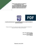PLANIFICACIÓN ESCOLAR Y CALIDAD DE GESTIÓN EN LAS INSTITUCIONES EDUCATIVAS