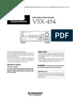Vsx-454 User Manual