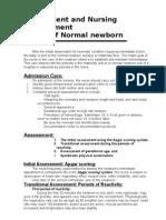 Assessment and Nursing Management Normal Newborn