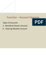 Function – Account Opening
