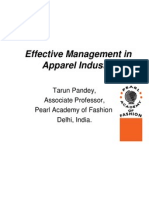 Effective Management in Apparel Industry