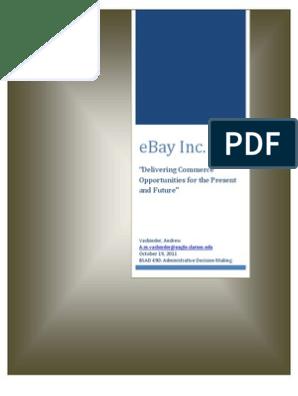 Ebay Case Analysis E Bay Pay Pal