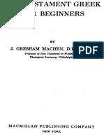 New Testament Greek for Beginners, John Gresham Machen. 1923