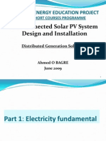 Distributed Generation Solar PV