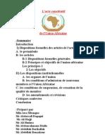 l'Acte constitutif de l'Union Africaine