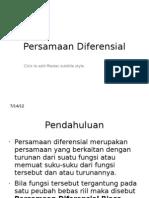 1. Persamaan Diferensial