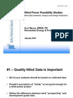 Wind Power Feasibility Studies