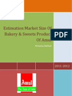 Estimation Market Size of Bakery & Sweets Product of Amul (by Himansu Rathod_9998146685)