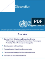 Dissolution WHO Presentation