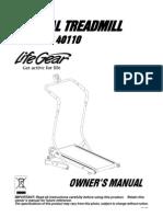 40110-Manual Treadmill Manual
